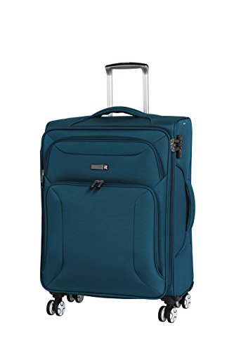 it luggage Fascia 8 Wheel Lightweight Semi Expander Medium With Tsa Lock Suitcase, 68 cm, 90 L, Moroccan Blue