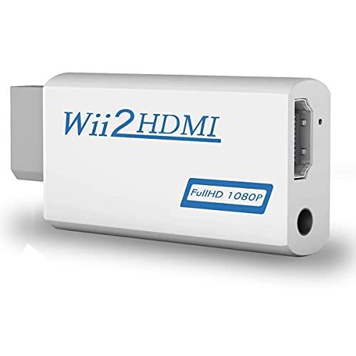 COOLEAD Convertidor Wii a HDMI Adaptador Wii2HDMI Converter Wii to HDMI Conector con Salida de Video Full HD 1080p 720p y Audio de 3.5mm para Wii U Wii smart...