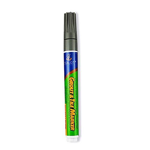 Haorw Bolígrafo para Azulejos, reparación de Huecos para Azulejos Bolígrafo de Color Impermeable A Prueba de Suciedad Especial Hermoso Piso de Costura Gris Oscuro
