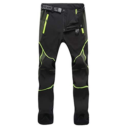 YiLianDaD Uomo Donna Impermeabile Pantaloni Asciugatura Rapida Outdoor Sport Training Pants Traspiranti Slim con Tasca