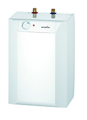 Gorenje Warmwasserspeicher, 10 L, EEK A, Bimetallsicherung, 2 kW, Untertisch, drucklos, 1 Stück, weiß, TEGS 10 U