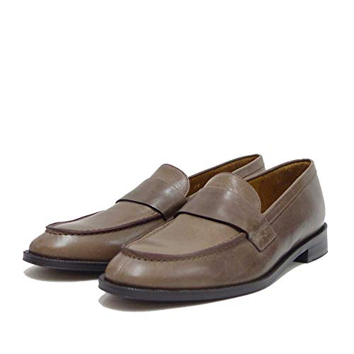 [サヤ] 50823 トラッド ローファー マニッシュ スリッポン「靴」(グレー 23.0cm)