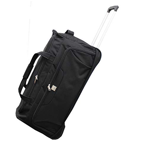 Bon Goût Large Wheely Travel Duffel Bag Telescopic Metal Frame Pull Handle Lightweight 82 Litre