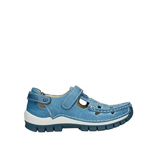 Wolky Comfort Riemchenschuhe Move - 35815 hellblaues Leder - 39