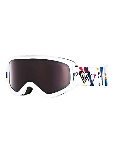Roxy Damen Day Dream-Snowboard-/Skibrille für Frauen, Bright White Magic Carpet, 1SZ