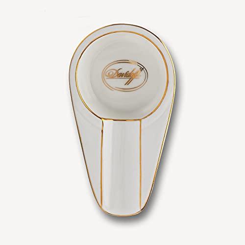 Single Ceramic Porcelain Cigar Ashtray,,Classic Mini Portable house hold Cigar Ashtray,Cigars Ashtray for Patio/Outside/Indoor Ashtray (DAVID)