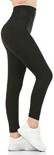 Gnpolo Womens Black High Waisted Leggings Soft Tight Slim Tummy Control Trousers Yoga Pants product image