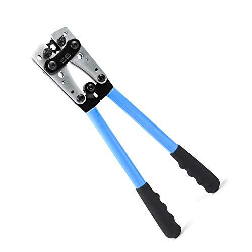 HX-50B Batteriekabelschuh Crimpzangen Handelektrikerzange zum Crimpen von Drahtkabeln von 6-50 mm² (AWG 8-1 / 0) mit verstärkter und verdickter Metallplatte