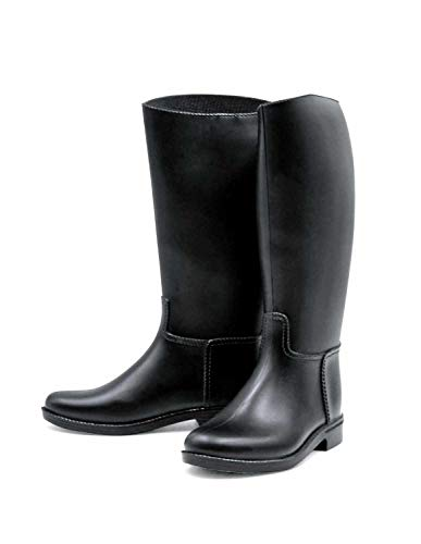 Bottes d'équitation AMKA - Pour femme - Avec support pour éperon - Semelle en plastique - Dimensions précises - Voir tableau ou image - Noir - Noir , 41 EU