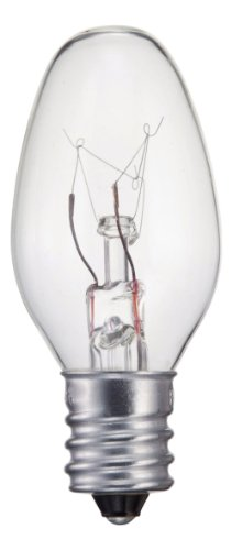 Philips 415422 Incandescent 16 Lumen 4 Watt 2700K Soft White Clear C7 Night Light w/Candelabra Base (4 Pack)