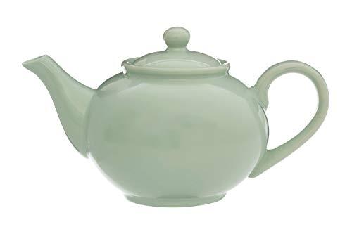 Premier Housewares–Tetera, Color Crema, 1300ml, cerámica, Verde, 16 x 26 x 15 cm