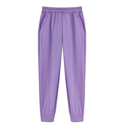 YIBANG-DIANZI Hoddie para Mujer Mujeres Unisex Pareja con Capucha, Invierno Casual Suelto Jumper más tamaño Señoras de otoño e Invierno Tops (Color : Pants 1 Purple, Size : S)