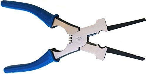 KM Specialty Tools New Blue 8inch Multifunction Mig Welding Pliers for Metal Fabricators