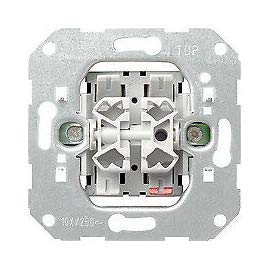 GIRA System 55 Standard E2, Reinweiß glänzend, Steckdose Schalter Rahmen Wippe (010500 Serienschalter, 1 Stück)