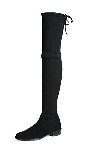 Stuart Weitzman Lowland Over The Knee Boot Black Suede Stretch 8