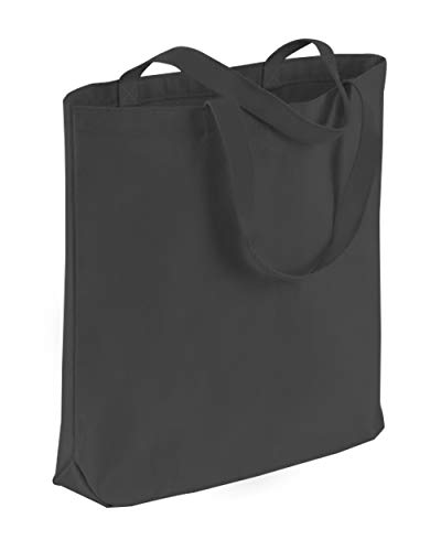 TBF Cotton Canvas Quality Tote Bags with Bottom Gusset for Promotions, Shopping, Groceries, Arts & Crafts, DIY, Vinyl, Decorate