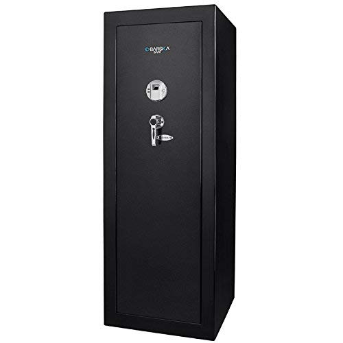 BARSKA New Large Quick Access Biometric Rifle Gun Safe Cabinet (20 in x 16 in x 57 in)