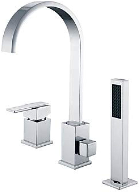 Badewannenarmaturen - Moderne Chrom 3-Loch-Armatur