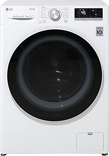 LG F14WD95EN0E Waschtrockner - 9 kg Waschen / 5 kg Trocknen - Inverter Motor, Dampf-Funktion, Weiß, 1400 U/Min