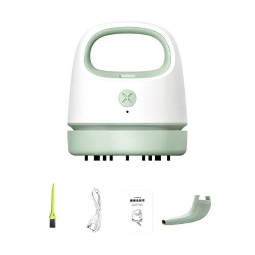 Vokmon Aspiradora de Mano colector de Polvo del hogar del Coche del USB Extracción colector de Polvo del colector de Pelo para Teclado, Verde