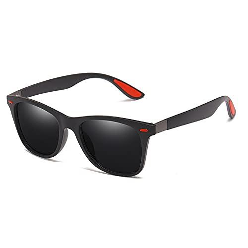 BANLV Gafas de Sol polarizadas con Clavo Rojo de arroz, Gafas de Sol Deportivas Coloridas al Aire Libre para Hombres
