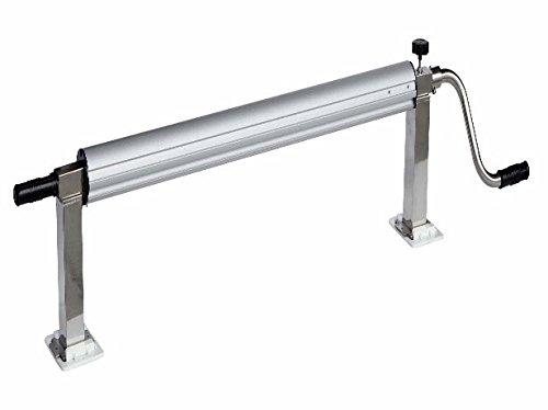 International Pool Protection Teleskop-Aufroller aus Edelstahl, für Pools bis 5,50 m Breite mit 82 mm Rohr mit Kurbel
