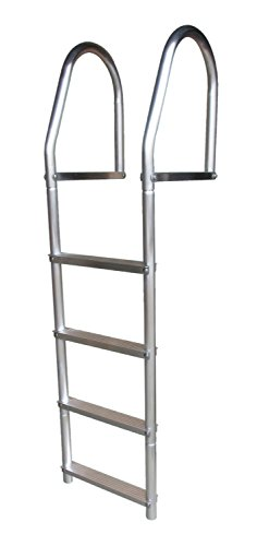 Dock Edge + ECO Weld Free Fixed Dock Ladder, 4 Steps, Aluminum