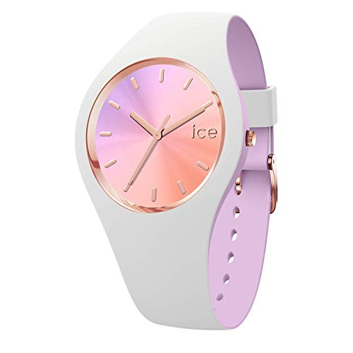 Ice-Watch - ICE duo chic White orchid - Women's wristwatch with silicon strap - 016978 (Small)