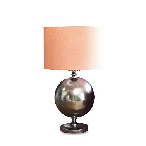 Loberon Tischlampe Coby, Eisen, H/Ø ca. 41/21 cm, orange/silber, E27, max. 40 Watt, A++ bis E