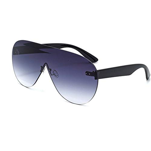 SXRAI Männer Frauen Übergroße Sonnenbrillen Sonnenbrillen Mono Mirrored Lens Große Sonnenbrillen mit UV-Schutz,C1