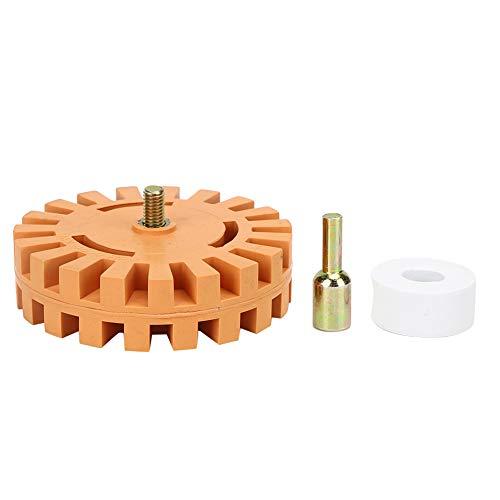 Oumefar 4-Zoll-Gummireinigerrad-Filmfolienkleberentferner Radiergummirad 25 mm Durchmesser zum Entfernen