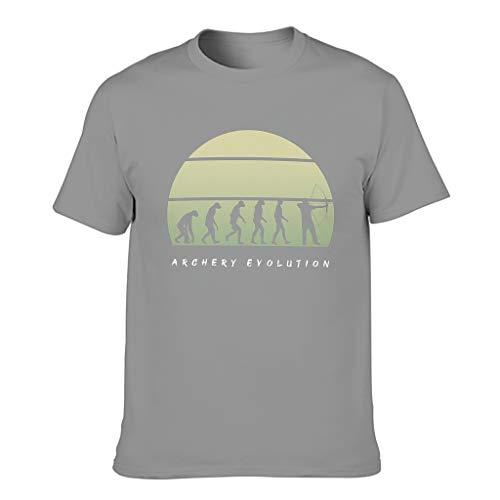 Camiseta de manga corta para hombre, diseño de evolución de tiro con arco Gris oscuro. L