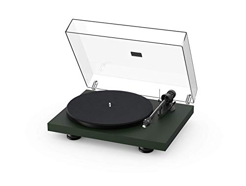 Pro-Ject Debut Carbon EVO, Audiophile Turntable with Carbon Fiber tonearm, Electronic Speed Selection and pre-Mounted Sumiko Rainier Phono Cartridge (Satin Fir Green)