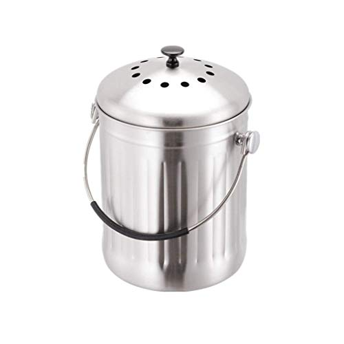 Learn More About Waste Bins Stainless Steel Compost Bin Kitchen Kitchen Pail Compost for Kitchen Cou...