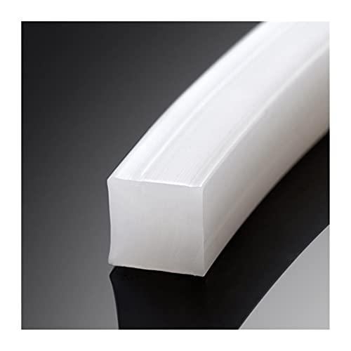 LITOSM Tira De Sellado Tira de Silicona sólida sólida de Silicona sólida Resistente a Alta Temperatura (Color : 4X4mm 5M)