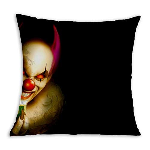 Clown Skull Comfortable Pillowcase Home Decoration Garden Cushion Cover Square Inside and Outside