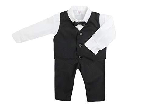 Jungenanzug Taufanzug Festanzug Junge K 29 Black 4tlg Schwarz