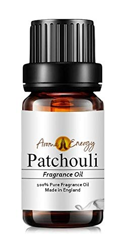 Pure Patchouli Fragrance Oil, 10ml - Ideal for Aromatherapy, Oil Burner, Diffuser, Home Made Making, Potpourri, Candle, Soap, Cosmetic, Slime, Bath Bomb, air freshener