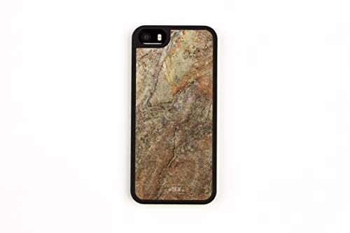 WoodWe Iphone Case made of Natural Stone | For Iphone 5 | Slim & Light Cover | Heavy Duty Protection | BURNING FOREST
