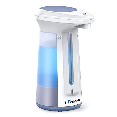 iTronics 113 Automatic Hand Sanitizer Dispenser Touch Free Dish Soap Dispenser for Kitchen Bathroom Liquid Hand Soap Refill 330ml/12oz