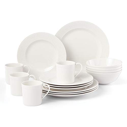 Kate Spade Wickford 16-Piece Dinnerware Set, 15.75 LB, White