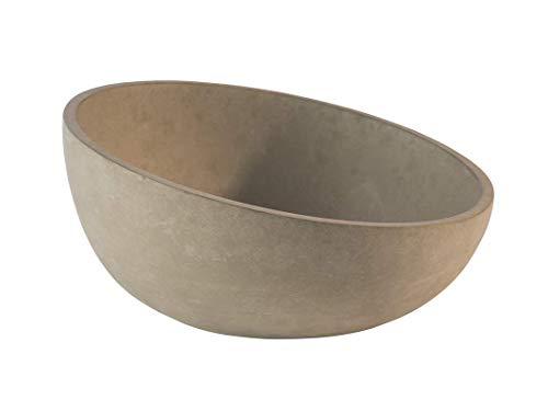 """APS Schale """"Element"""" – Hochwertige Schale aus Beton mit möbelschonender Unterseite – Stapelbar und mit der Abmessung Ø: 22 x H: 6 cm / 10,5 cm für 1,1 Liter, rund und abgeschrägt"""