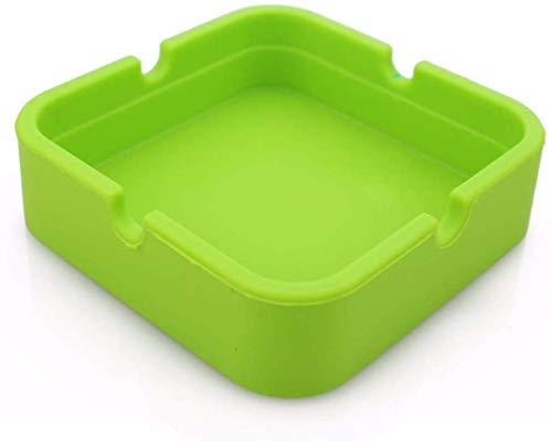 AMITD Huishoudelijke siliconen asbak milieuvriendelijk vierkant rubber hoog/lage temperatuur hittebestendig design tabaksglas