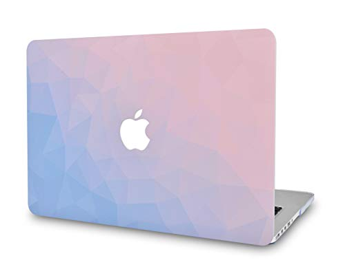 LuvCase Laptop Case for MacBook Air 13 Inch(2020/2019/2018) A2179/A1932 Retina Display (Touch ID)RubberizedPlasticHardShellCover (Ombre Pink Blue)