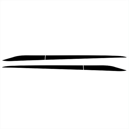 2 unids Adecuado Compatible con Honda Civic 2016-2020 Raza DE Puerta DE Puerta DE Puerta Lado Preferido Precio A Prueba de Sol Decalos de Vinilo a Prueba de Soles Coche Modificado A