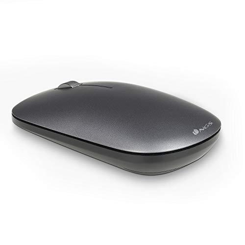 Kit de Teclado y ratón inalámbrico de 2,4 GHz. NGS Matrix Kit. 12 Teclas Multimedia. ULTRASLIM. Color Grafito