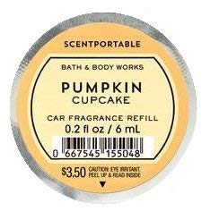 Bath & Body Works Fall Scentportable Bundle for Autumn -- Pumpkin Cupcake, Sweet Cinnamon Pumpkin, Leaves, and Flannel Scentportables