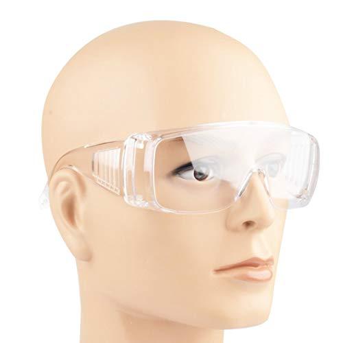 Jessicadaphne Gafas de Seguridad Laboratorio Protección Ocular Gafas Protectoras médicas Lente Transparente Lugar de Trabajo Gafas de Seguridad Suministros Antipolvo