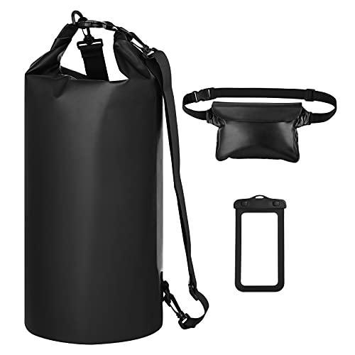 Simpeak Dry Bag Set, Wasserdicht Tasche 20L, Wasserdichter Packsack mit Schulranzen und Handytasche, ideale für Schwimmen Bootfahren Kajak Wassersport Treiben