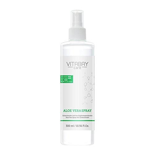 Aloe Vera Spray für Körper & Haar extrastark 300 ml - 99,9% Aloe Vera aus k.b.A + Hyaluronsäure